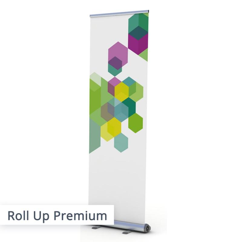 Das Roll Up Banner Premium mit individuellem Aufdruck...