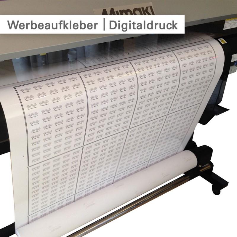 Werbeaufkleber – individuell mit fotorealistischem Digitaldruck bedruckt |SalierDruck.de