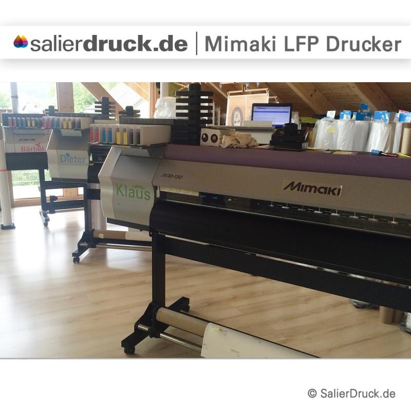 Dürfen wir vorstellen? Unsere Mimaki Drucker Klaus, Dieter und Bärbel.