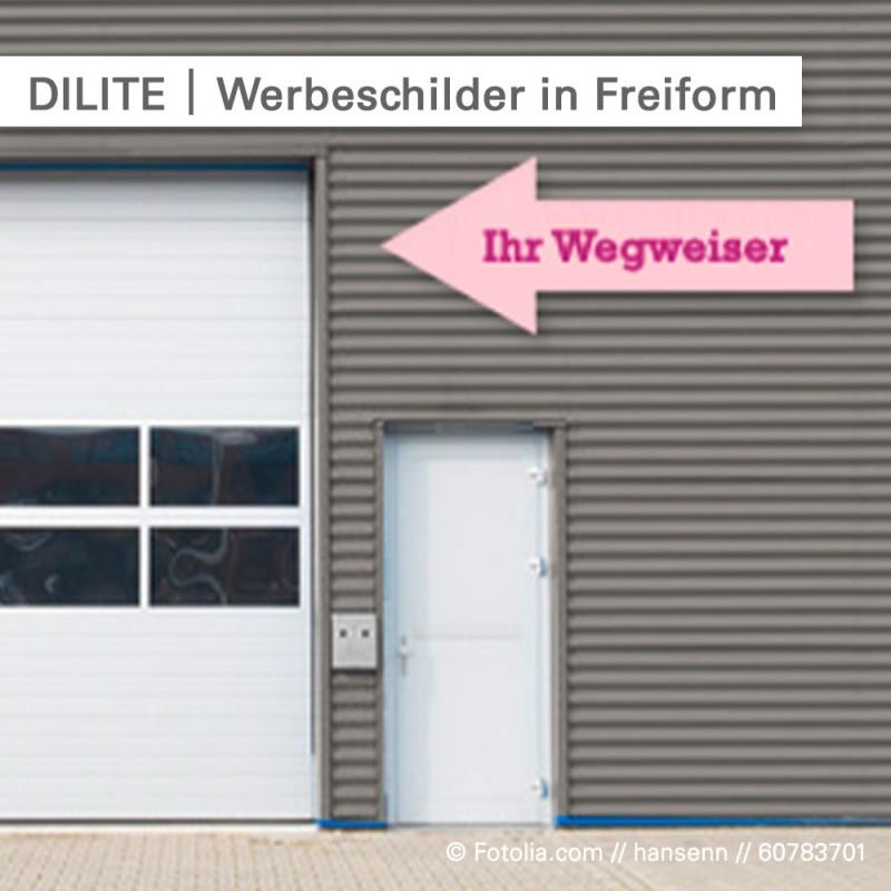 DILITE-Werbeschilder in Freiform – SalierDruck.de