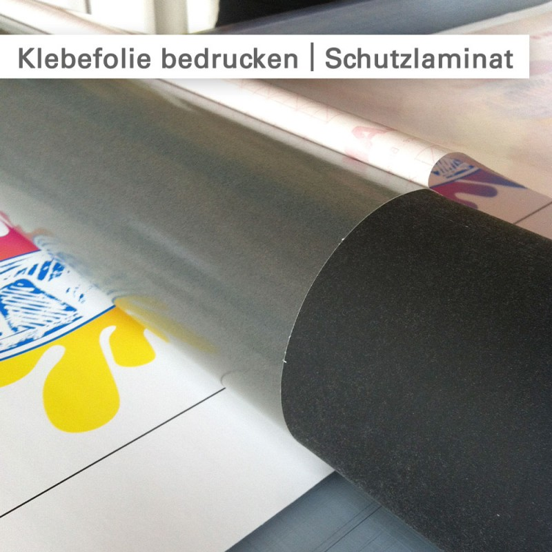 Klebefolien bedrucken und mit Laminat kaschieren - SalierDruck.de