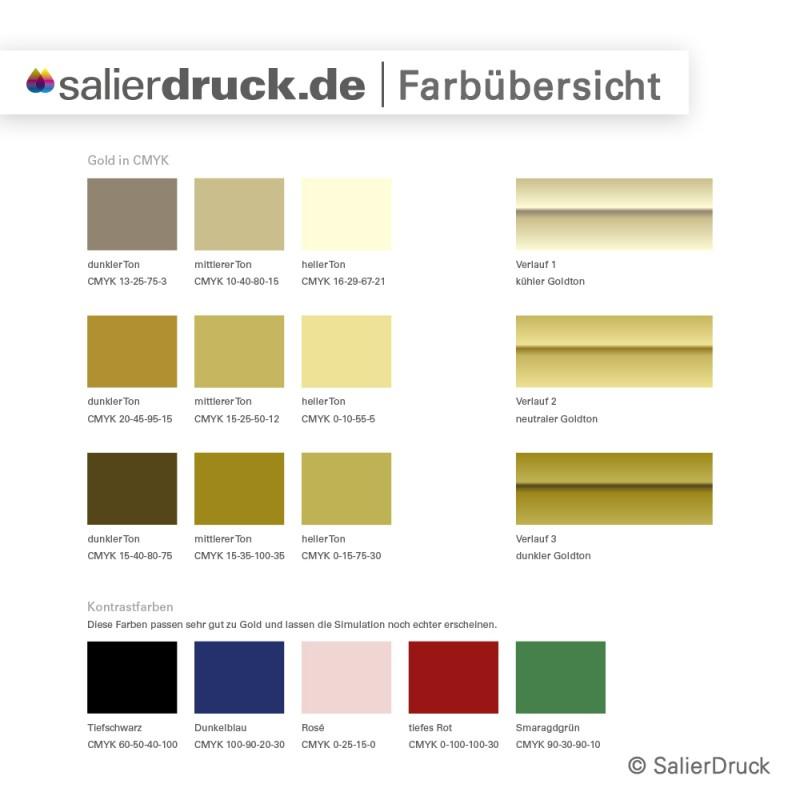 CMYK-Gold – eine Farbübersicht | SalierDruck