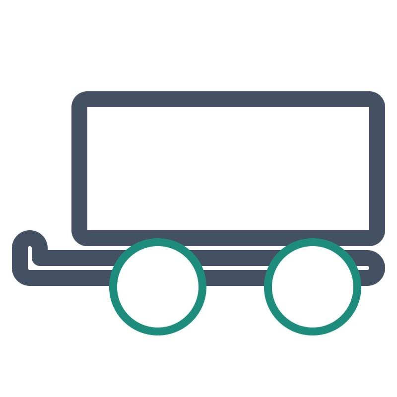 Viele PKW Anhänger sind mit Planen abgedeckt, diese können mit Aufklebern für Planen beklebt werden.
