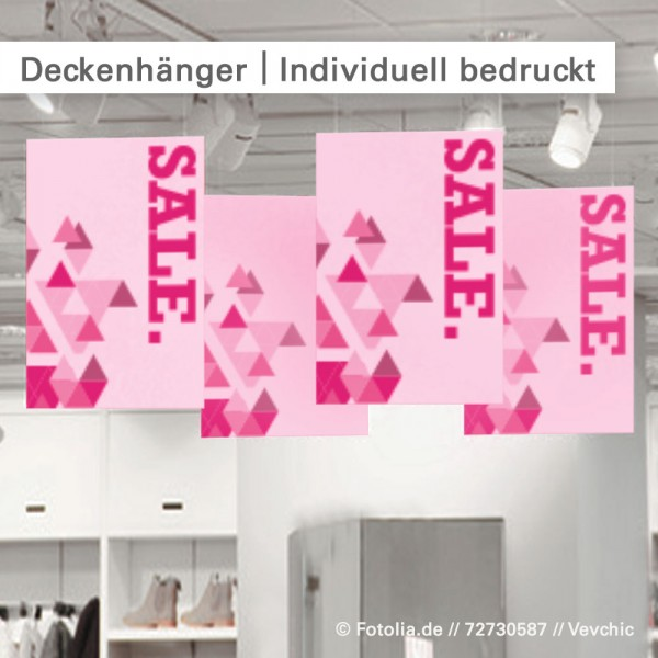 Deckenhänger drucken - individuell und günstig bestellen bei SalierDruck.de.